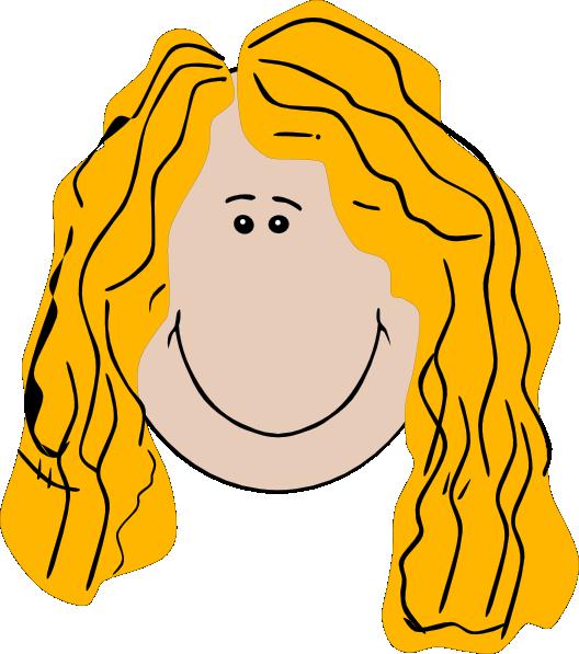Long Hair Girl Clip Art