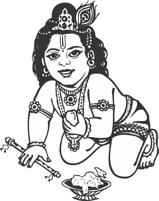 Baby Krishna Clipart · K Panda Tablets