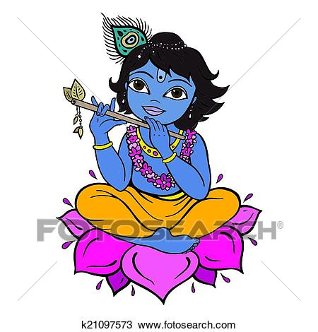 Clipart - Hindu God Krishna ClipartLook.com Fotosearch - Search Clip Art, Illustration  Murals,