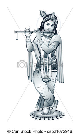 Indian God Krishna - csp21672916
