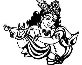 lord krishna clipart 10