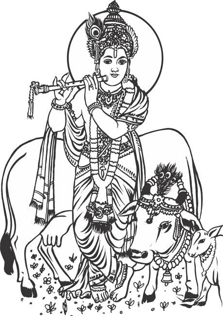 lord krishna clipart 7