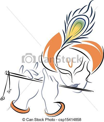 Sri Krishna playing Flute - csp15414858