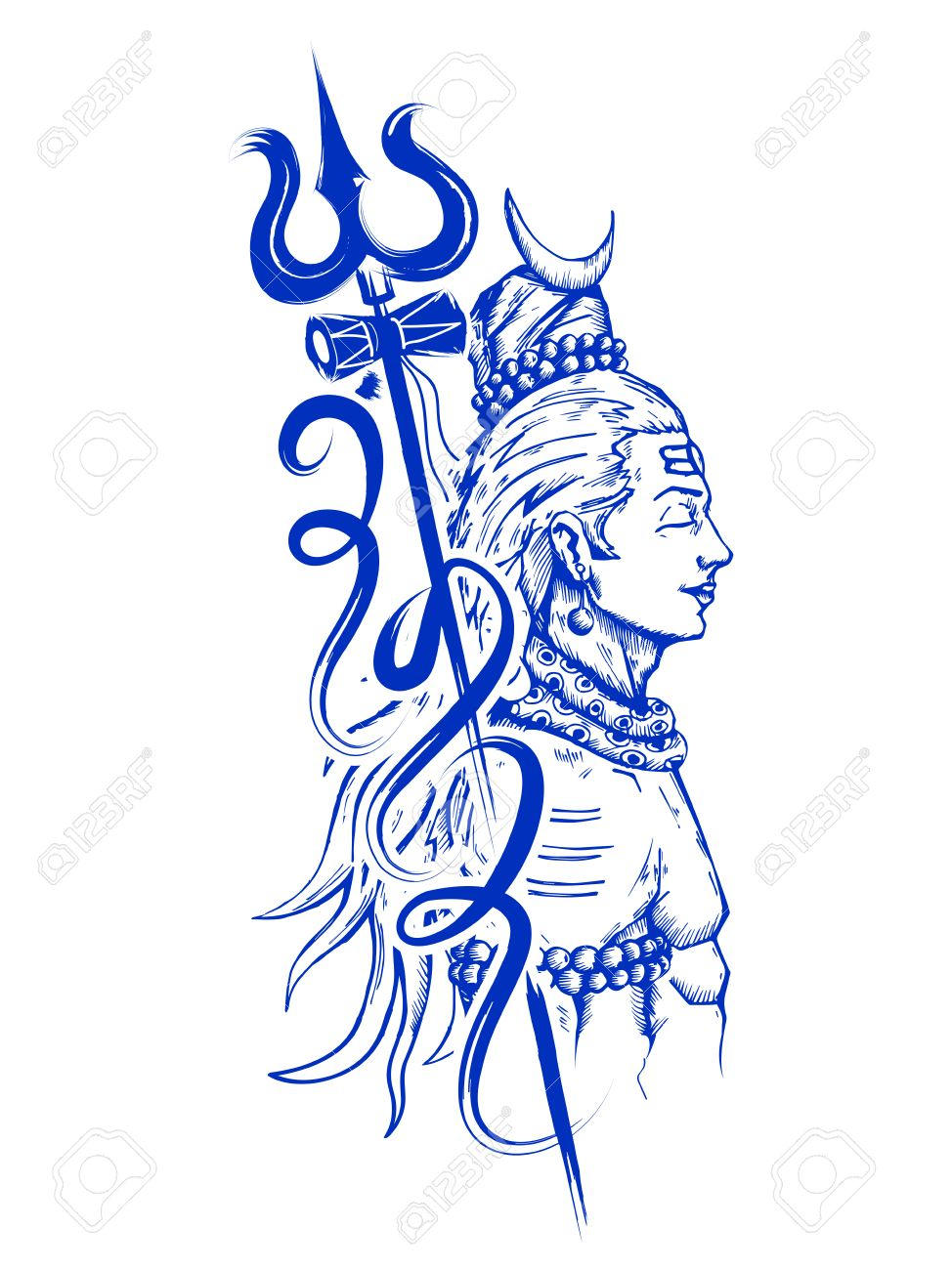 Lord Shiva, Indian God of Hindu Stock Vector - 72546350