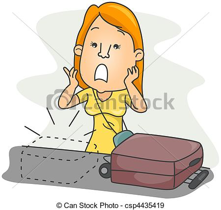 ... Lost Luggage with clipping path