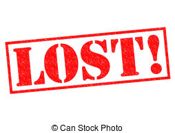 LOST! red Rubber Stamp .