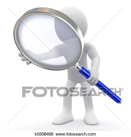 Stock Illustration - Man with - Loupe Clipart