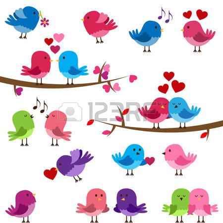 love birds: Vector Collection of Cute Love Birds