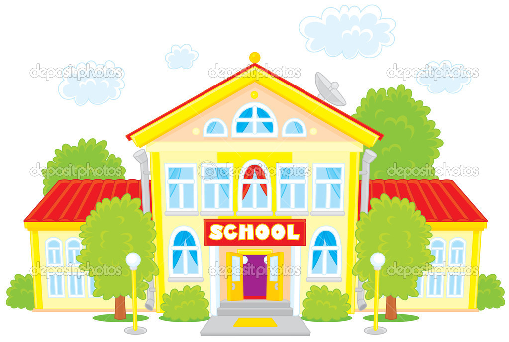 Lovely School Building Clipart .