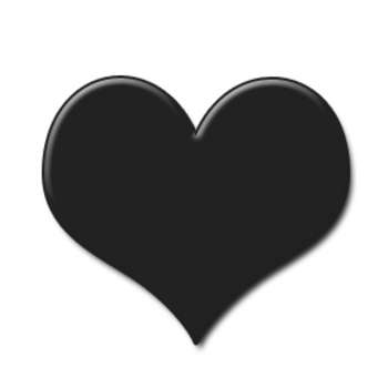 Low Resolution Clipart Graphic Of A Black Heart Valentine Clipart Com