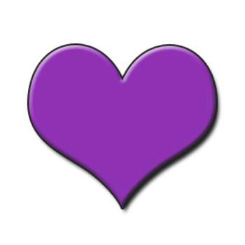 Low Resolution Clipart Graphic Of A Purple Heart Valentine Clipart Com