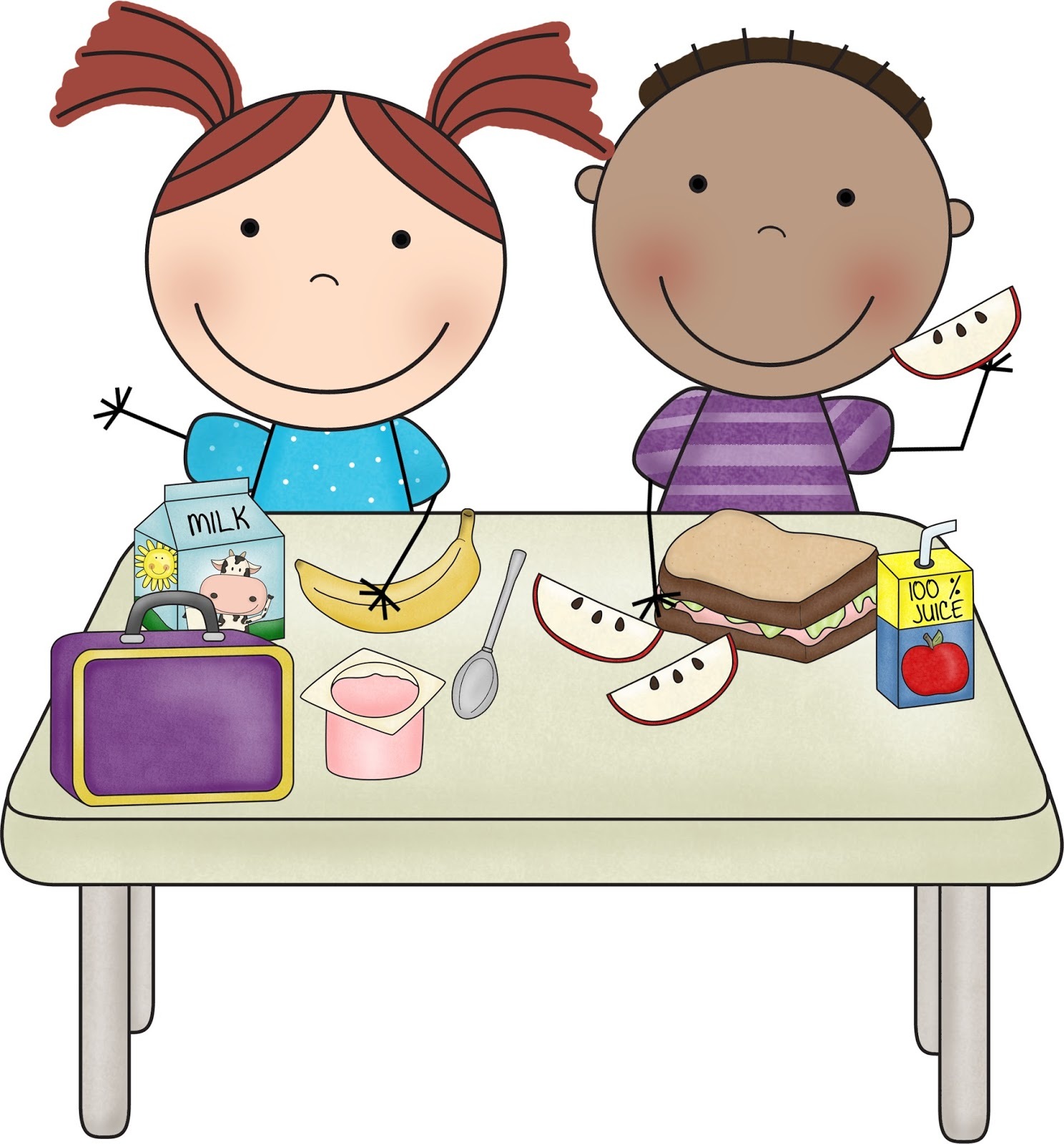 Kindergarten Lunch Clipart #1