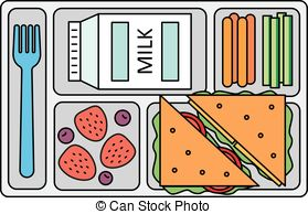 . hdclipartall.com School lunch in line style - School lunch with a sandwich,.