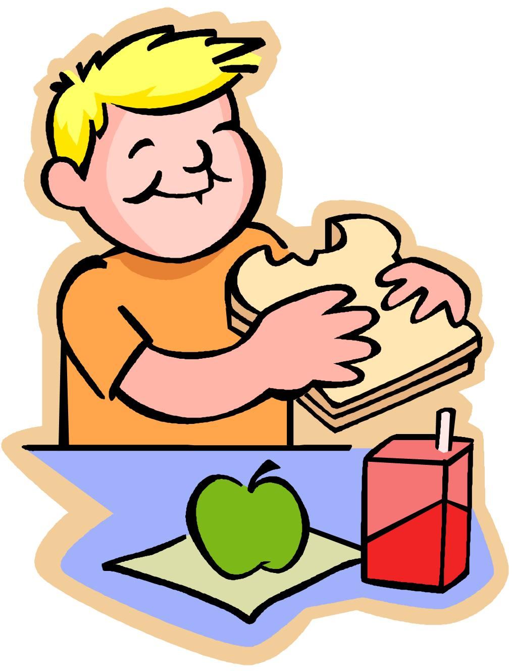 Lunch students go clipart