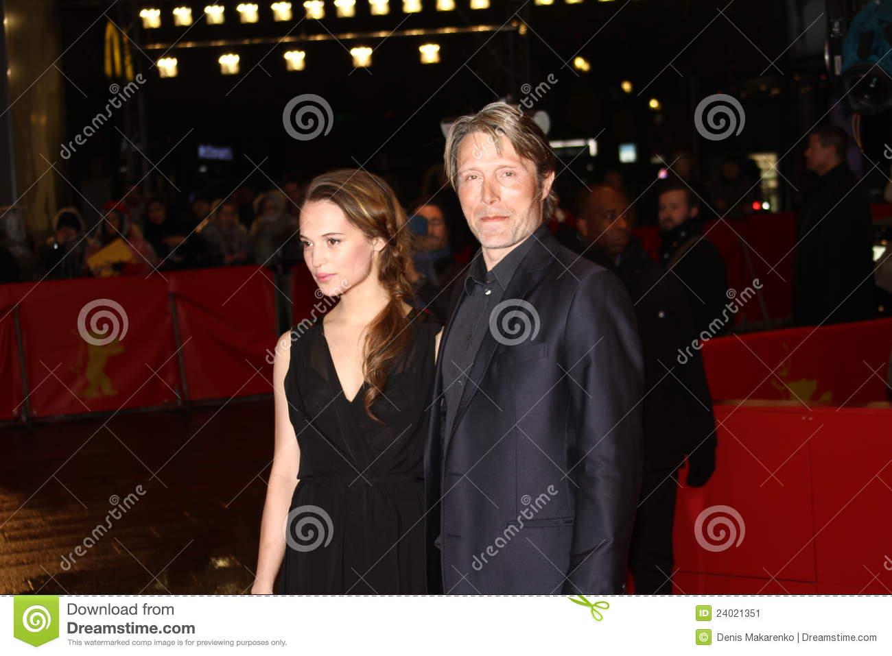 Alicia Vikander and Mads Mikkelsen