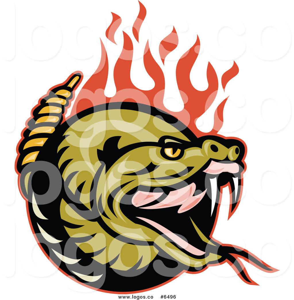 Rattlesnake Clipart orange snake