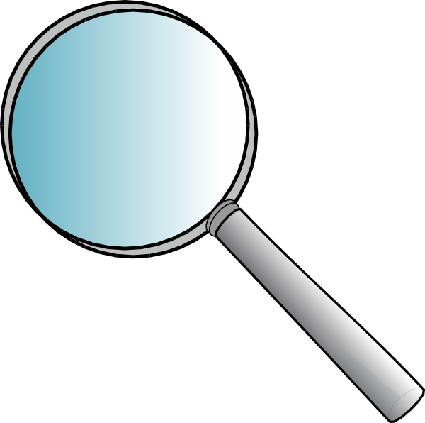 magnifying glass detective clipart