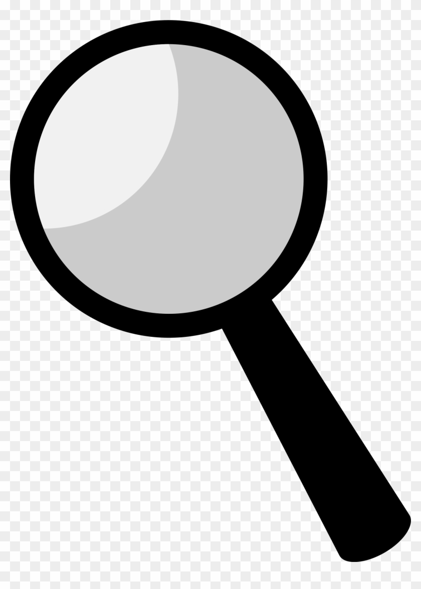 Clipart - - Magnifying Glass Black Clipart