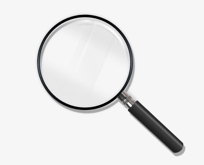 realistic magnifying glass, School Supplies, Observed, Check The Case PNG  Image and Clipart