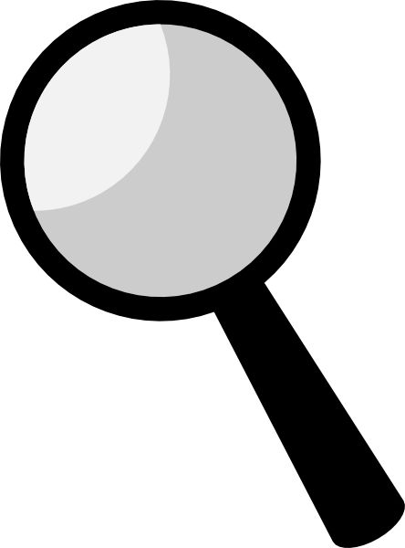 Magnifying Glass clip art .