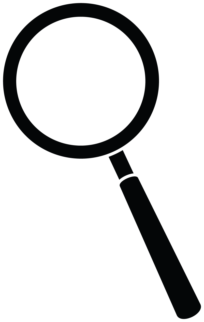 Magnifying Glass Clipart Black .
