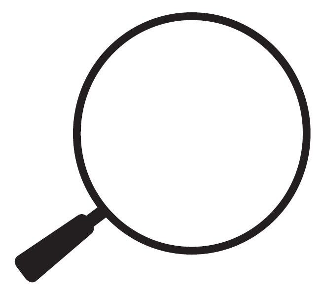 Magnifying glass graphic .