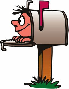 Mailbox post office worker clip art carrier delivering mail into a