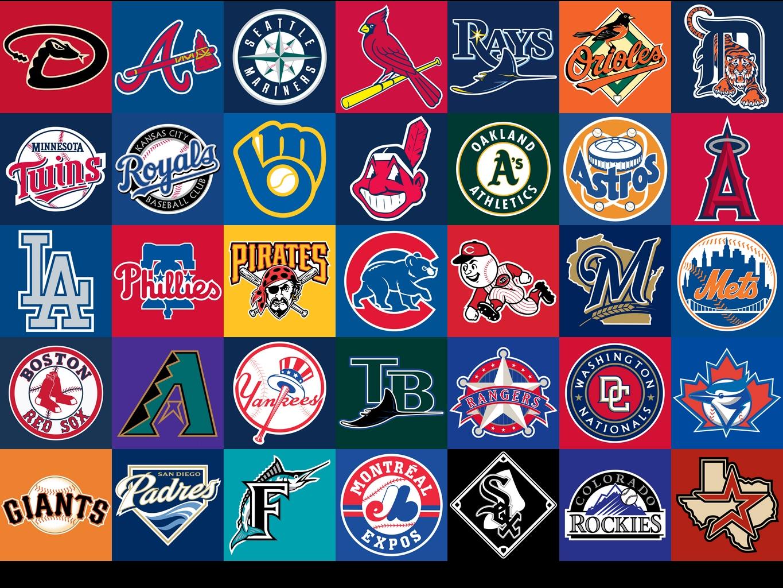 major league baseball teams clipart