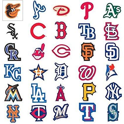 MLB Major League Baseball Team Logo Stickers Set of 30 Teams 4u0026quot; ClipartLook.com