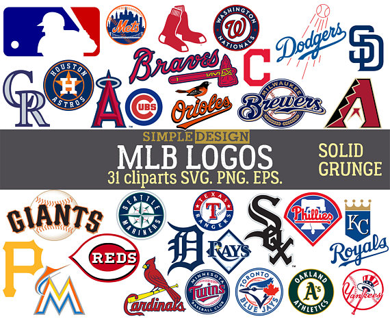 MLB team logos, MLB SVG, baseball team logos, grunge, distressed, baseball  clipart, mlb logo team svg, major league svg, baseball svg.