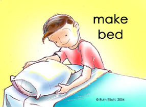 Make bed kids clipart