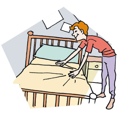 Make bed learn a woodworking clip art