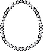 Male icons with accessories assortment u0026middot; pearl necklace