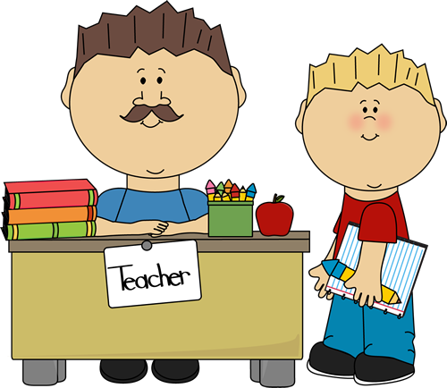 Male Teacher and Student