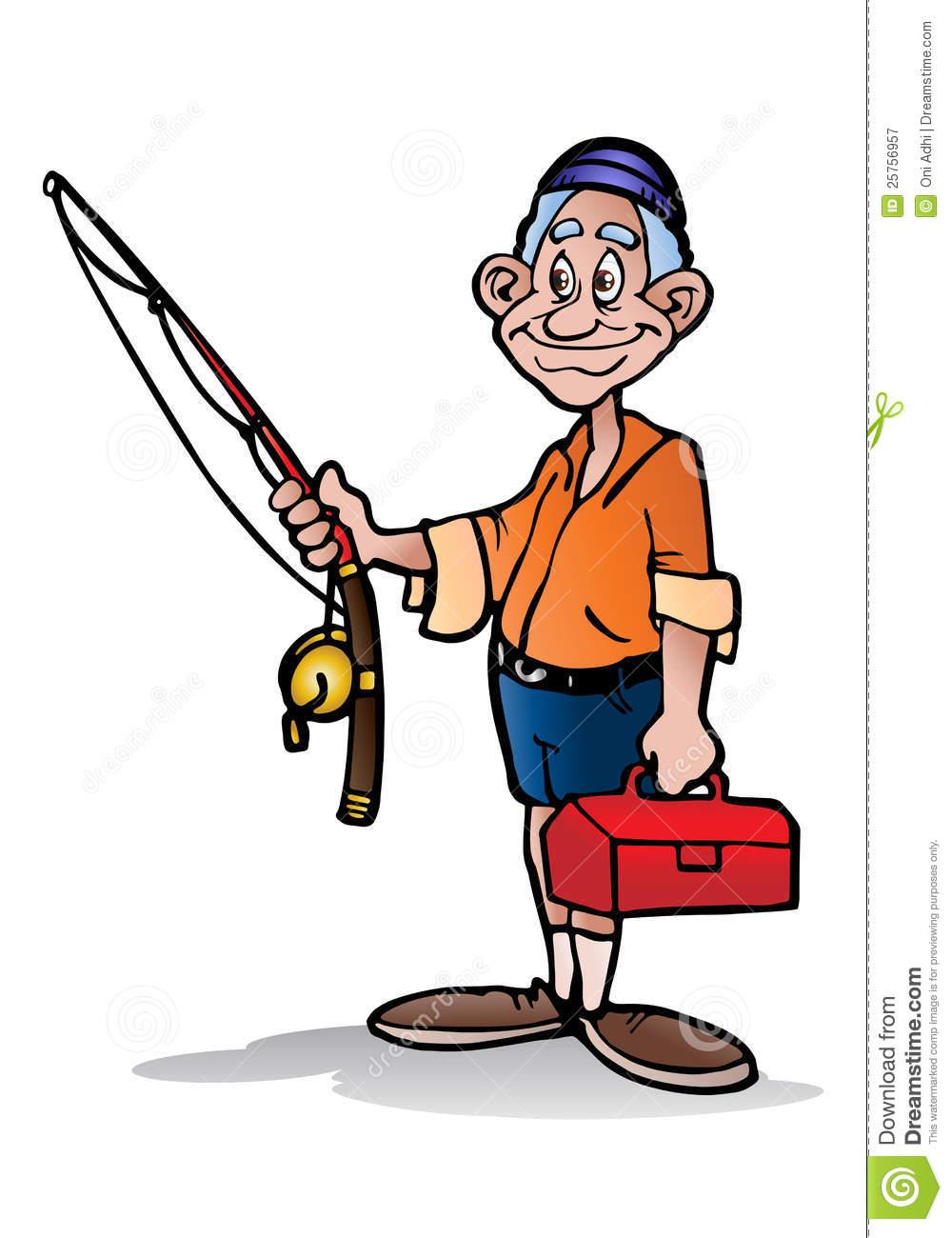 Man Fishing Clipart