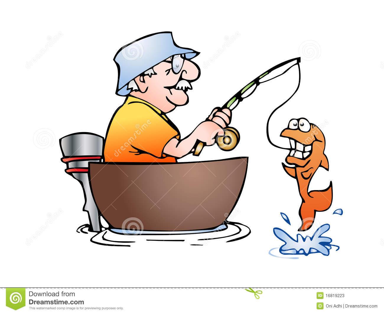 Man Fishing Free Clipart #1