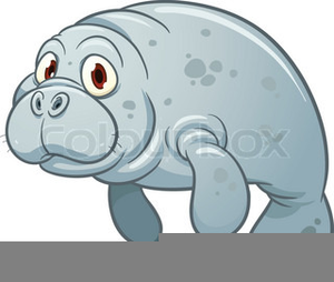Animated Manatee Clipart Image