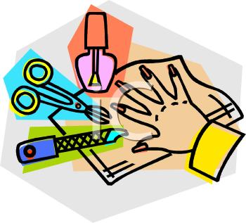 Manicure Items Royalty Free Clip Art Illustration