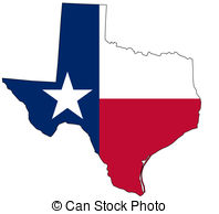 ... Map of Texas in national colors