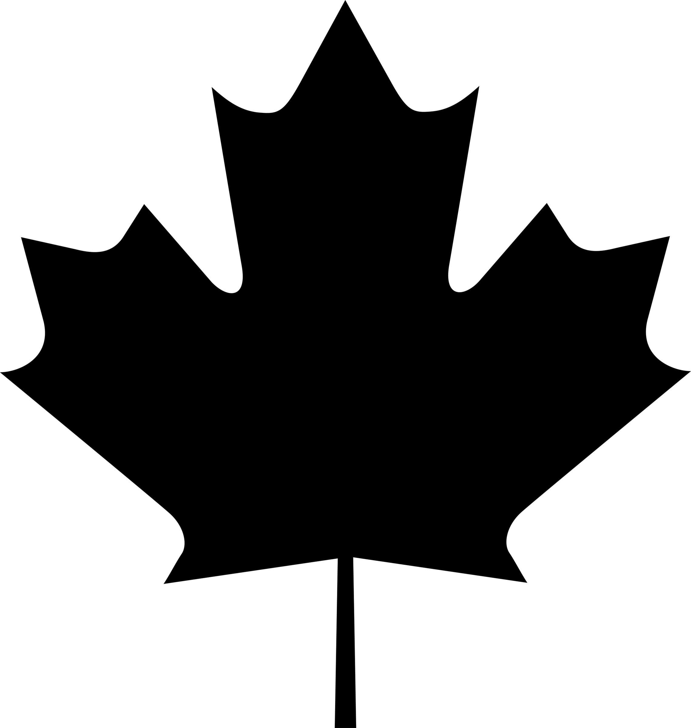 Maple Leaf Go Canada Clip Art