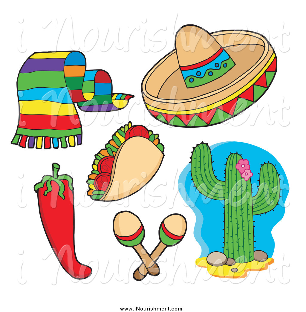 Maracas And Sombrero Clipart Clipart Of A Mexican Scarf