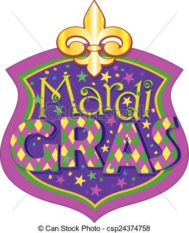 ... Mardi Gras blazon - Illustration of Mardi Gras blazon Mardi Gras blazon Clipart ...