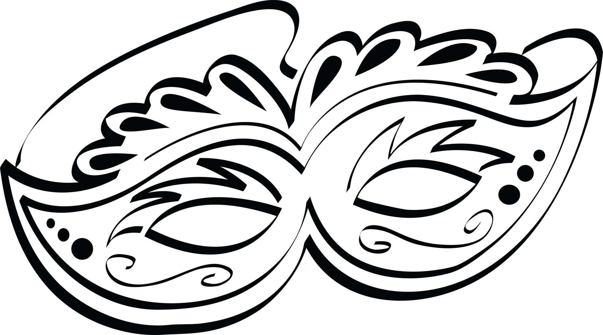 Mardi Gras Mask Carnival .