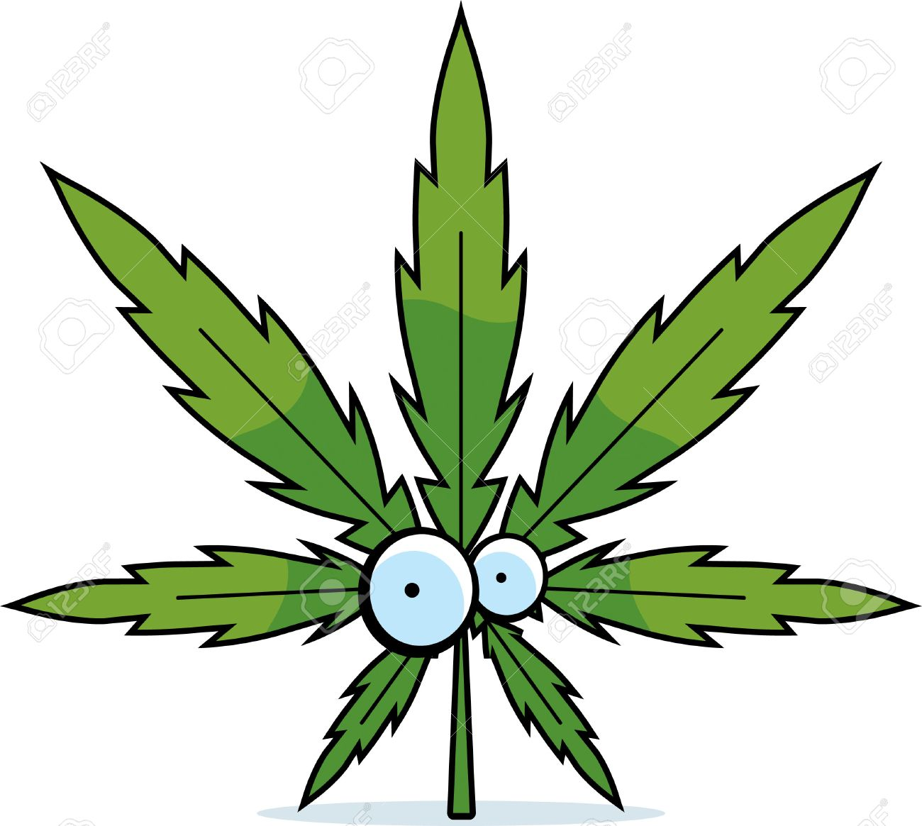 A green cartoon marijuana lea - Marijuana Clipart