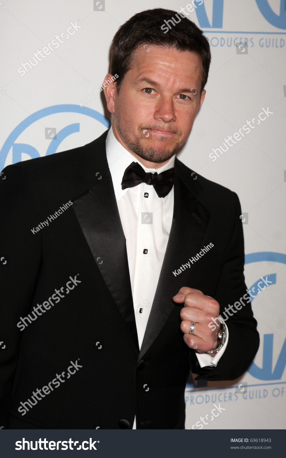 BEVERLY HILLS - JAN 22: Mark Wahlberg arrives at the 22nd Annual Producers  Guild Awards