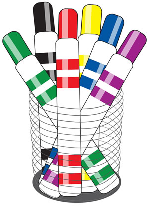 Markers cliparts. Markers Clipart
