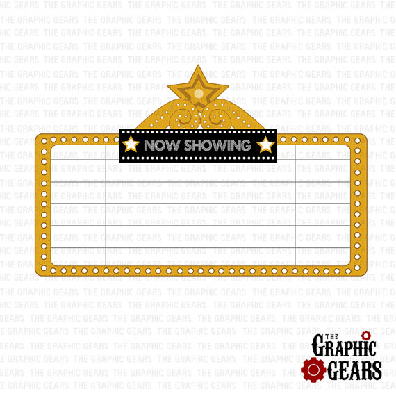 Marquee Clip Art Movie Theatre Sign Or Marquee Clip Art Personal Or