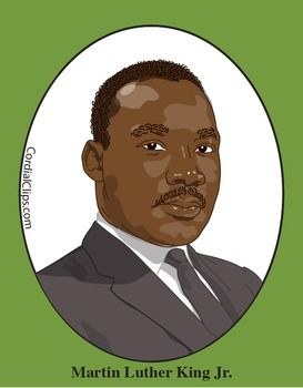 MARTIN LUTHER KING JR. Clip Art, great for US History and Black History Month