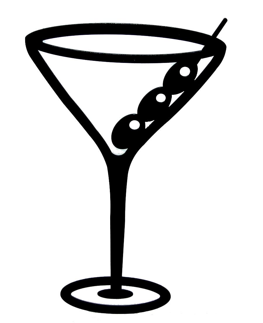 Martini Glass Clipart #1