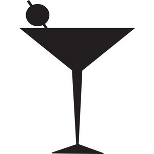 Martini glass cocktail glass clip art image